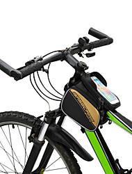 economico -Telai esteri per lo zaino Marsupio triangolare da telaio bici Bag Cell Phone 6 pollice Ompermeabile Multifunzione Schermo touch Ciclismo