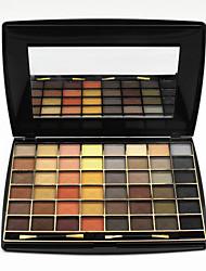 48 Colors Palette di ombretti Satinato Gamma di colori dell'ombretto Cipria Set Trucco smokey