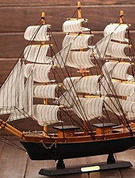 cheap -Wooden Sailing Boat Model The Mediterranean Pirate Ship Gift Craft Ship  Smooth Furnishing Articles(Ramdon Color)