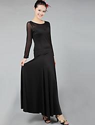 abordables -Danse de Salon Robes Femme Utilisation Spandex Drapée Robe / Danse moderne
