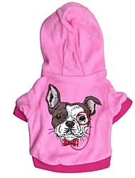 Собака Толстовки Одежда для собак На каждый день Кролик Красный Синий