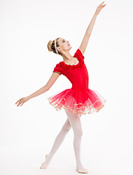 cheap -Cotton/Lycra Cap Sleeve Leotards With Tutu Skirts More Colors for Ladies and Girls Kids Dance Costumes