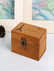 cheap -Vintage Wooden Tower Box Wood Crafts Home Furnishing Storage Box  with Lock