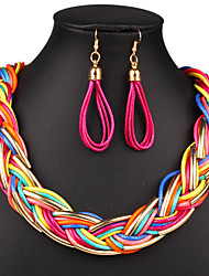 cheap -Jewelry Set Vintage Party Party Birthday Engagement Gift Gold Plated Alloy Necklace Earrings
