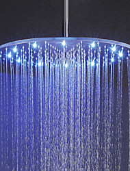 cheap -20 Inch Rainfall Bathroom Shower Head, 3 Colors(Blue, Green, Red) Temperature Sensitive LED Top Shower