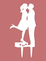 economico -Decorazioni torte Spiaggia Giardino Orientale Floreale Classico Fiaba Coppia classica Resina Matrimonio Compleanno Addio al nubilato Con