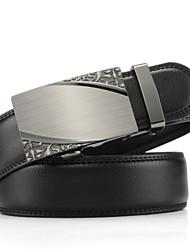 Men's Genuine Leather Ratchet Belt Business Waist Belts