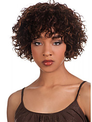 Ms African Brown Wig Fashion Style High Temperature Wire Short Curly Hair Wig
