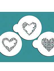 Swirl Valentine Heart Stencil, Cookie Stencil,Stencil for cake decorating,Free shipping stencil ST-685
