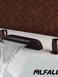 cheap -Mlfalls Brands Sanitary Fittings Brass Oil-Rubbed Bronze Waterfall Deck Mounted Bath Basin Faucets