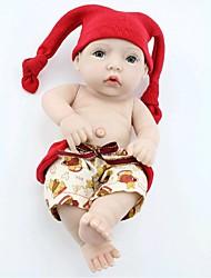 Недорогие -npkdoll возрождается кукла ребенка жесткий силикон 11inch 28см водонепроницаемый красный шлем мальчик