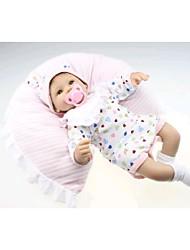 preiswerte -NPK DOLL Lebensechte Puppe Baby 18 Zoll Silikon / Vinyl - lebensecht, Handaufgetragene Wimpern, Gekippte und versiegelte Nägel Mädchen