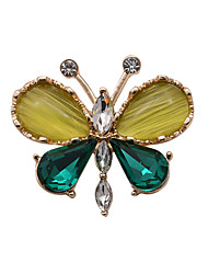 cheap -Women's Crystal Luxury Gemstone Rhinestone Glass Opal Imitation Diamond Alloy Butterfly Animal Jewelry For Wedding Party Daily Casual