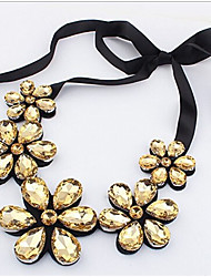 cheap -Women's Floral Statement Necklace - Floral Flower Style Flowers Flower Gold Rainbow Necklace For Party