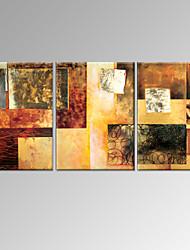 Peint à la main Abstrait / FantaisieModern Trois Panneaux Toile Peinture à l'huile Hang-peint For Décoration d'intérieur