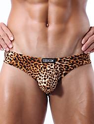 Factory direct wholesale leopard underwear briefs men Jitu men's briefs U convex bag