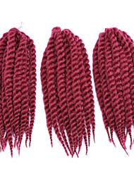 baratos -#27 / #30 / Azul / erro / #1B Box Tranças Tranças torção Extensões de cabelo 12inc Kanikalon 12/1 costa 70g grama Tranças de cabelo