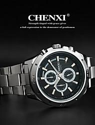 CHENXI® Pánské Náramkové hodinky Křemenný Japonské Quartz Nerez Kapela Stříbro Bílá Černá