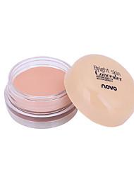 billige Concealer & kontur-Ensfargede Pudder Concealer / Contour Våt / Matt / Mineral Langtidsvarende / Concealer / Naturlig Ansikt Sminke kosmetisk
