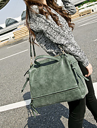 cheap -Women Bags PU Tote for Casual Winter Gray Fuchsia Green
