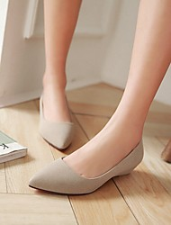 baratos -Feminino Sapatos Courino Primavera Verão Outono Salto Baixo Para Casual Preto Bege Vermelho Verde
