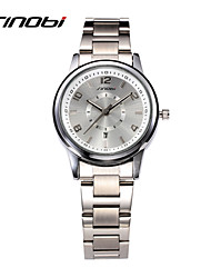 cheap -SINOBI Women's Fashion Watch Quartz Calendar Water Resistant / Water Proof Alloy Band Silver
