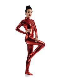 Zentai Suits Morphsuit Ninja Zentai Cosplay Costumes Red Solid Leotard/Onesie Zentai Spandex Shiny Metallic Unisex Halloween Christmas