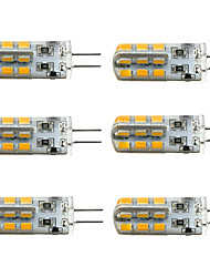 1.5W G4 LED Corn Lights T 24 SMD 2835 100-150 lm Warm White Cold White 2800-3000/6000-6500 K Dimmable DC 12 V