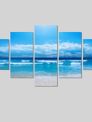 cheap -Canvas Print Landscape Modern Five Panels Horizontal Wall Decor Home Decoration