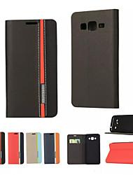 billiga -fodral Till Samsung Galaxy Samsung Galaxy-fodral Korthållare / med stativ / Lucka Fodral Enfärgad PU läder för On 5 / J7 / J5