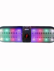 altoparlanti bluetooth senza fili 2.1 CHPortatile / All'aperto / Supporto memory card / Supporto FM / disco di supporto USB / Luce LED /