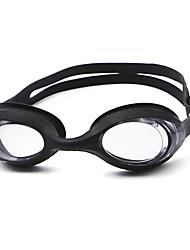 Недорогие -плавательные очки Водонепроницаемость Противо-туманное покрытие По предписанию врача Зеркальный силикагель Поликарбонат белый черный синий розовый черный синий