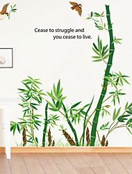 cheap -Wall Stickers Wall Decals Style Cartoon Bamboo PVC Wall Stickers