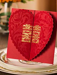 Přehyb s dvojitou bránou Svatební Pozvánky 50-Pozvánky Pozvánky na zásnubní večírek Klasický styl Čtvrtky