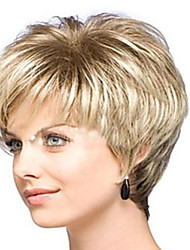 Women Synthetic Wig Capless Short Curly Blonde Halloween Wig Carnival Wig Costume Wigs