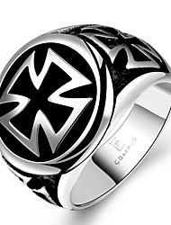 cheap -Men's Statement Ring - Stainless Steel Cross Unique Design, Fashion 8 / 9 / 10 For Christmas Gifts