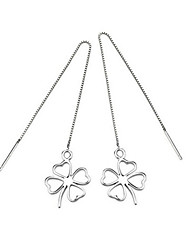 cheap -Women's Sterling Silver - Fashion Four Leaf Clover Earrings For Wedding Party Daily