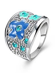 preiswerte -Damen Kristall Zirkon / Aleación Bandring - 1 Kreisform Klassisch / Modisch Silber Ring Für Hochzeit / Party / Halloween
