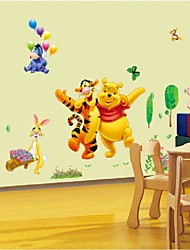 cheap -Cartoon Animals Pooh Tree Vinyl Wall Stickers For Kids Rooms Home Decor Child Sticker Wall Art Decals Home Decoration