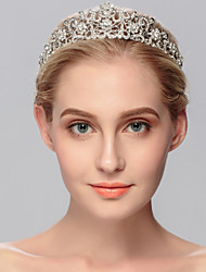 cheap -Rhinestone Tiaras 1 Wedding Special Occasion Casual Office & Career Outdoor Headpiece