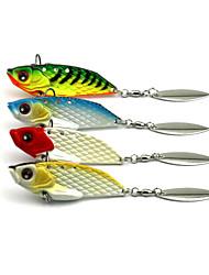 """4pcs Stück Angelköder Metallköder Vibration Zufällige Farben g/Unze,60 mm/2-3/8"""" Zoll,MetalSeefischerei Fischen im Süßwasser Spinnfischen"""