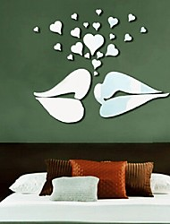 cheap -Big Kiss Lips Vinyl Wall Stickers Decals Diy Art Mural Home Decor Bedroom & Wedding Room Decor