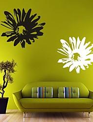 Romance / Floral Wall Stickers Autocolantes de Aviões para Parede , PVC L: 58 x 65 cm / M: 40 x 45cm / S: 25 x 28cm