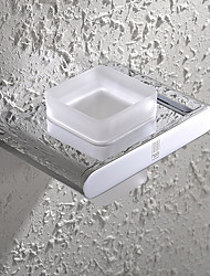 Suporte para Escova de Dentes / Cromado Vidro /Contemporâneo