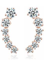 Viseće naušnice Zircon Legura Pink Zlatan Jewelry Za Vjenčanje Party Dnevno Kauzalni Sport 1set