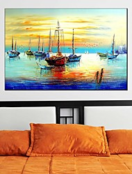cheap -Hand-Painted Landscape Horizontal Panoramic, Classic Modern Realism Pastoral European Style Canvas Oil Painting Home Decoration One Panel