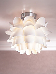 cheap -White Flower  Ceiling Light 1-Light Pendant Living Room / Bedroom / Dining Room / Kitchen  Hanging Lamp Fixture
