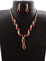 abordables -Collar / Pendiente (Baño en Oro / Aleación / Zirconia Cúbica)- Bonito / Fiesta / Trabajo para Mujer