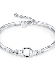 cheap -Women's Chain Bracelet - Silver Plated Simple, Bohemian, Punk Bracelet Silver For Party / Daily / Casual