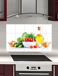 adesivi murali cucina rimovibile oilproof con decalcomanie casa resistente verdure fresche acqua stile d'arte